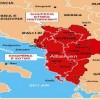 Shqipëria e ndarë në pesë pjesë të ballkanit